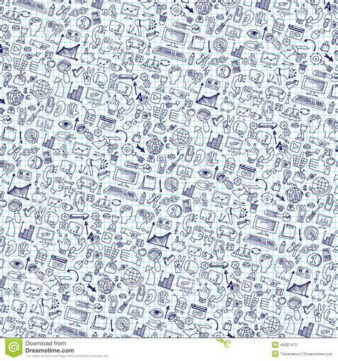 pattern background icon doodle seo icons backgrround business backdrop stock