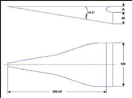 naca duct template naca air inlet geometry dimensions in mm