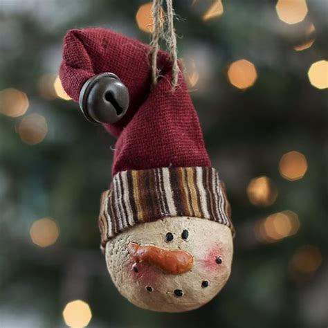 paper clay snowman ornament christmas ornaments