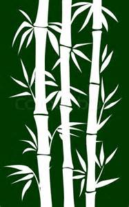 abstract bamboo tree black background vector illustration