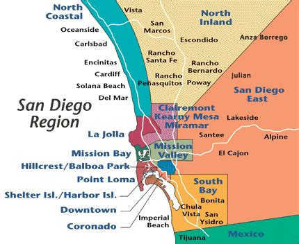 map of san diego area my