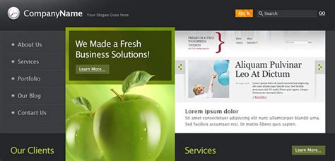 free website templates for business in html free business html web template template