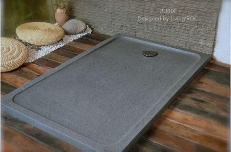 Kohler Groove Shower Pan by Receveur De En Pierre Rubix Granit Taill 233 Dans La