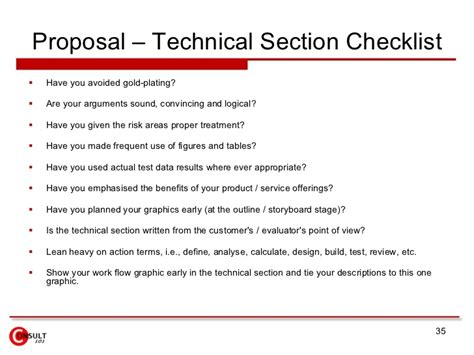 sections of a project proposal proposal management process