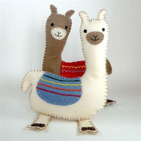 felt llama pattern stuffed llama pattern sew by hand plush felt stuffed