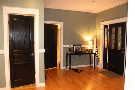 Dark Gray Dining Room Black Painted Interior Doors Why Not Homesfeed