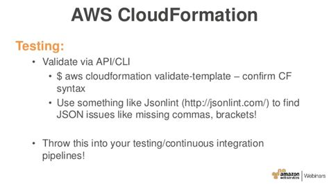 Aws Cloudformation Validate Template Aws January 2016 Webinar Series Managing Your Infrastructure As Code