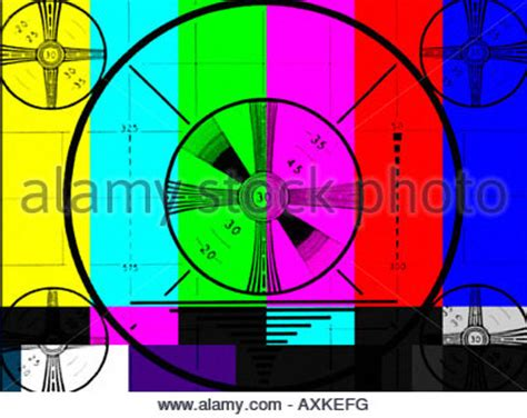 test pattern meaning tv color test pattern on high definition screen stock