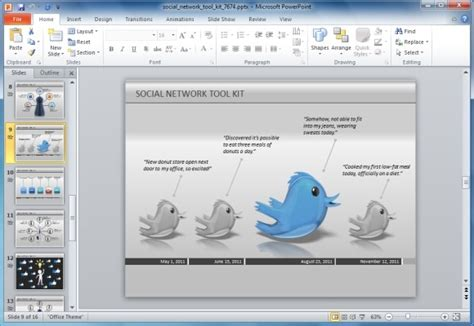 twitter layout for powerpoint powerpoint template twitter theme choice image