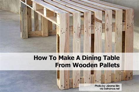 how to make a table out of pallets how to make a dining table from wooden pallets