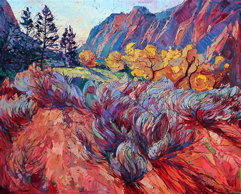 zion acrylic painting zion painting by erin hanson
