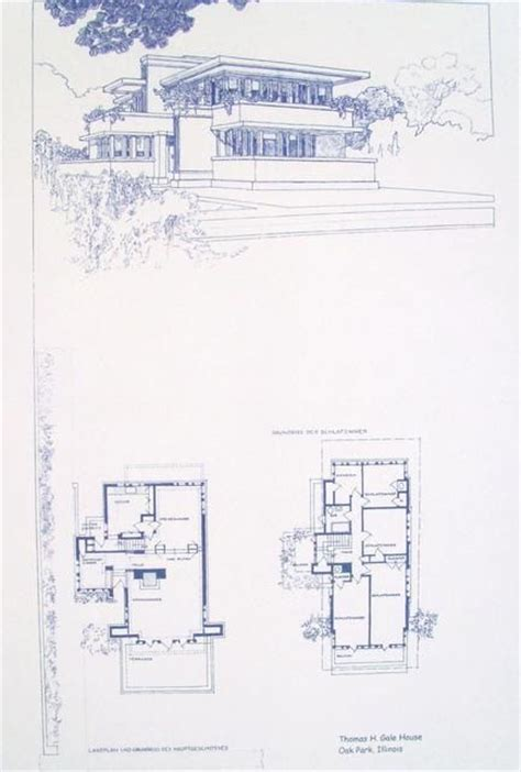 frank lloyd wright blueprints frank lloyd wright gale house blueprint classic arch