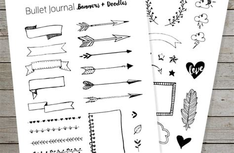 doodle draw journal an journaling workbook free bullet journal printable banners and doodles