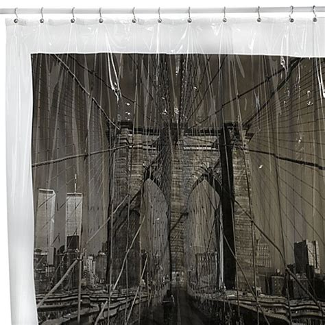 new york city shower curtain brooklyn bridge new york city 72 inch x 72 inch vinyl