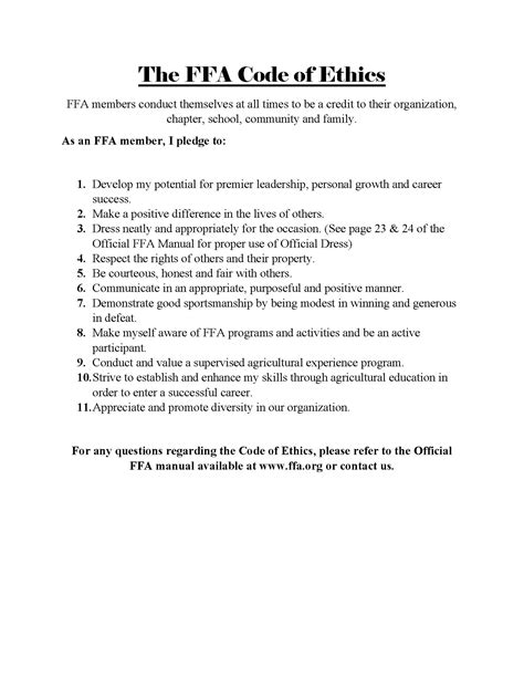 ethics template personal code of ethics tolg jcmanagement co