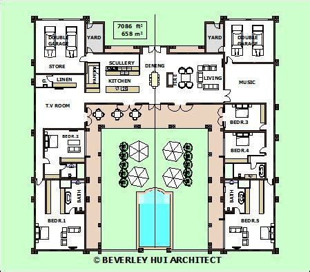 u shaped house plans with central courtyard google image result for u shaped house plans architecture
