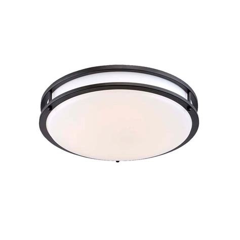Envirolite 14 In Brushed Nickel White Led Ceiling Low Low Profile Ceiling Lighting
