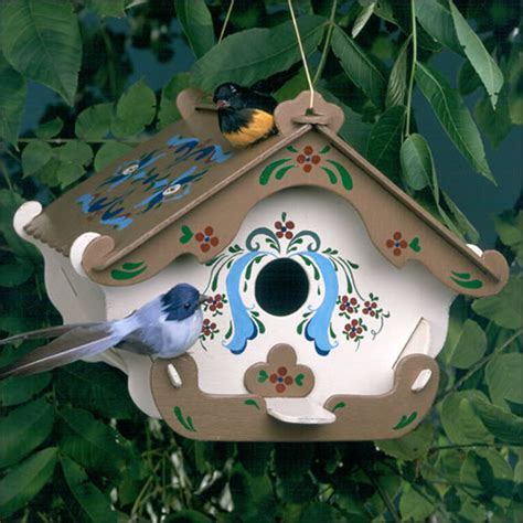wooden bird houses wooden bird house the swiss inn birdhouse kit