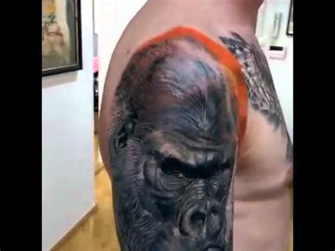 gorilla tattoo by artist gunnar v icelandic tattoo