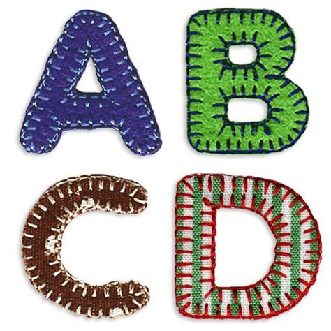 Patchwork Letters - alphabet patchwork iron on letters by pink pineapple home