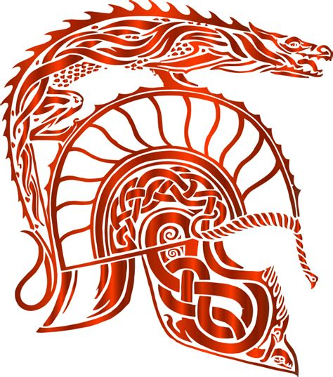 clipart children of hurin dragon helm vermillion no