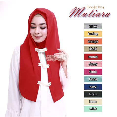 Harga Promo Gamis Rina Nose jilbab hoodie rina mutiara baju gamis terbaru