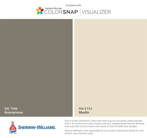 sherwin williams anonymous sw 7046 muslin sw 6133 my custom sherwin williams paint