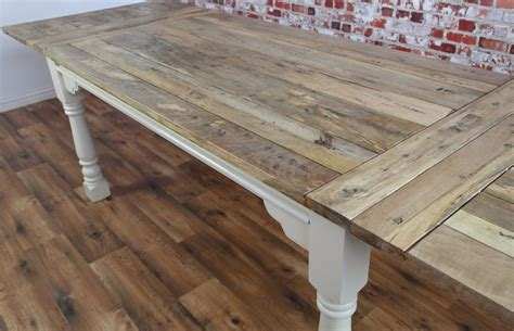 Extendable Farmhouse Dining Table Extendable Rustic Farmhouse Dining Table Painted In Farrow Seats Up To Twelve