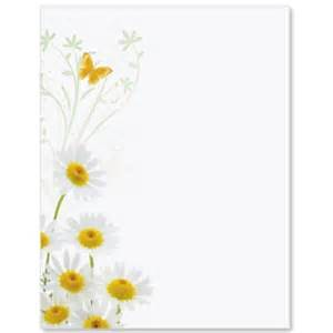 White daisies border papers paperdirect