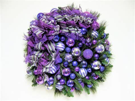 christmas wreath shades of purple christmas holiday wreath