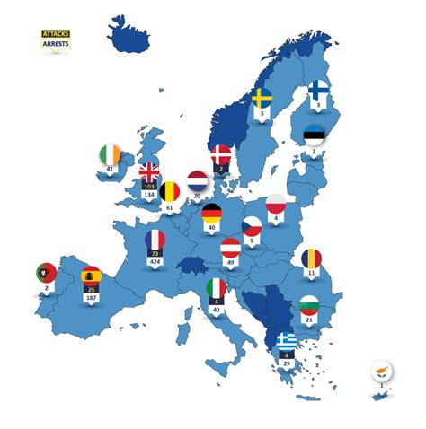 European Union Members by Eu Terrorism Situation Amp Trend Report Te Sat