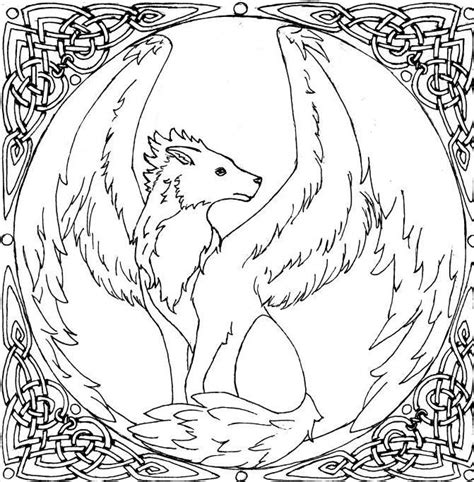 Coloring Pages Of Wolves With Wings Coloring Pages With Wings Coloring Pages
