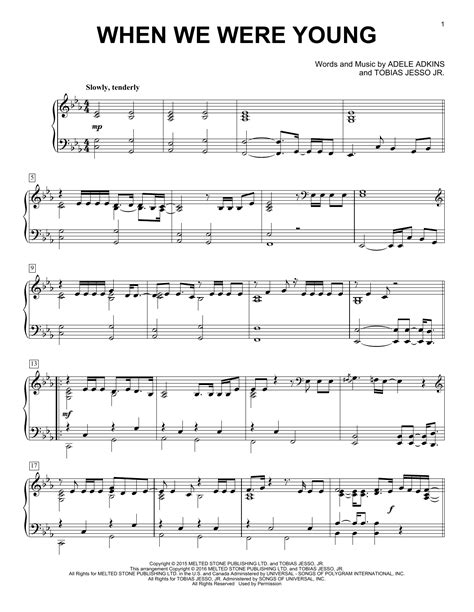download song when we were young by adele in mp3 adele when we were young sheet music