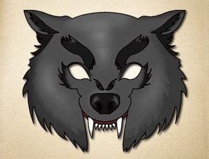 printable werewolf mask pinterest the world s catalog of ideas