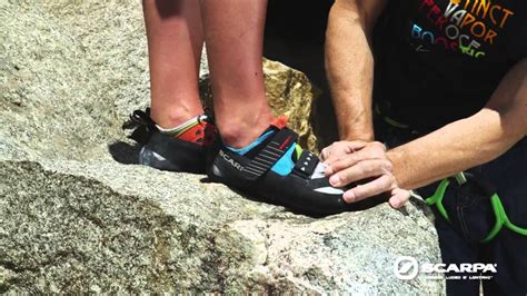 climbing shoe fit how to properly fit and put on a rock climbing shoe scarpa