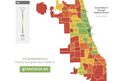 chicago map safe areas how green is your neighborhood new app reveals some