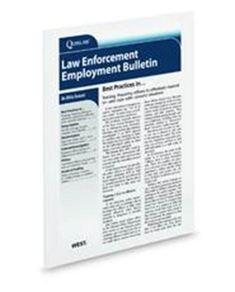 Enforcement Newsletter Enforcement Employment Bulletin Solutions