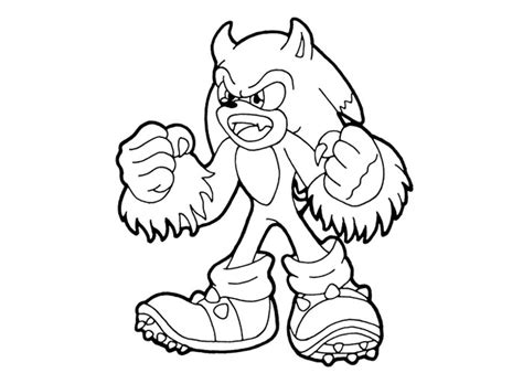 sonic the werehog coloring pages