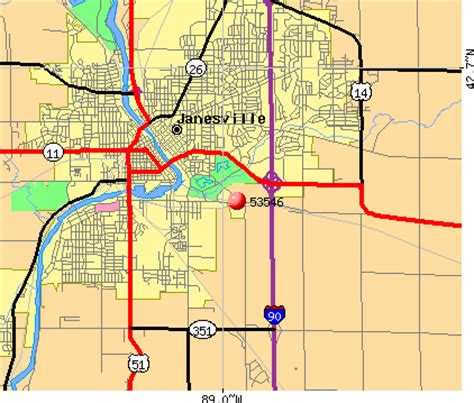 Zip Code Map Janesville Wi | image gallery janesville map