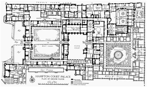 palace floor plans plan 1 hton court palace ground floor british