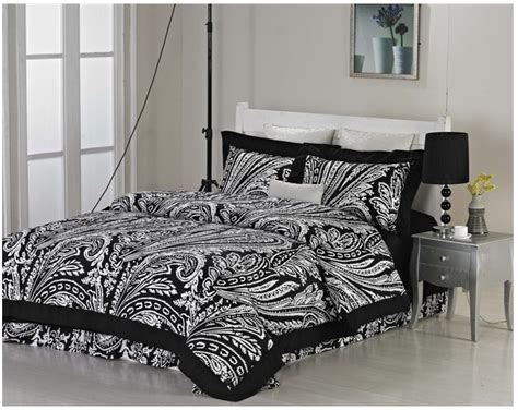 Black And White Coverlet King Luxury Brand Cotton Bedding Set Vintage Black And