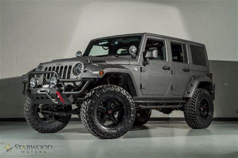 charcoal grey jeep rubicon bedliner sprayed 2014 jeep wrangler unlimited in