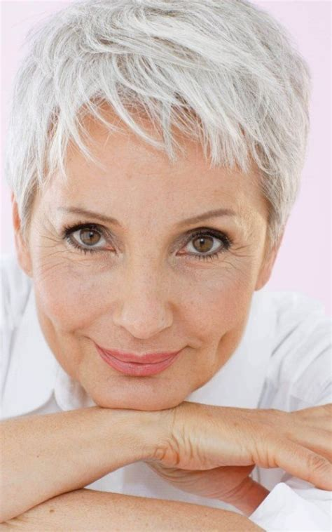 hairstyles for grey hair uk tousled pixie haircut best hairstyle and haircuts for