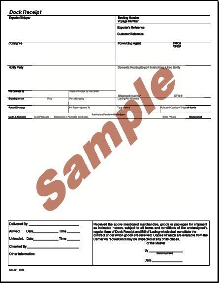 forwarders cargo receipt template 22 images of forwarder certificate receipt template