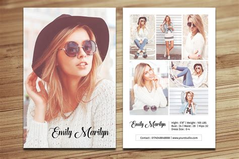 free model comp card template psd modeling comp card template fashion model comp card