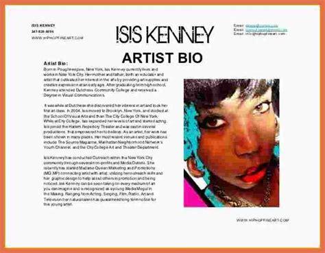 Bio Bio artist bio exle bio exle