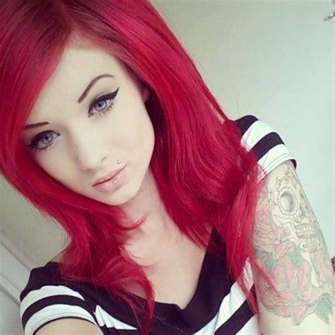 cortes de cabello 2016 en rojo y negro cortes de cabello y peinados emo para chicas primavera