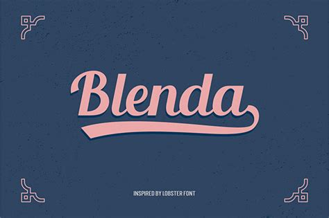 desain brosur vintage to enable opentype stylistic alternatives