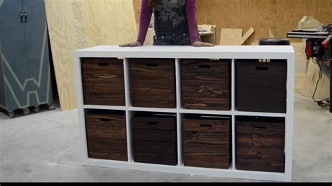 diy toy storage unit  wooden crates youtube