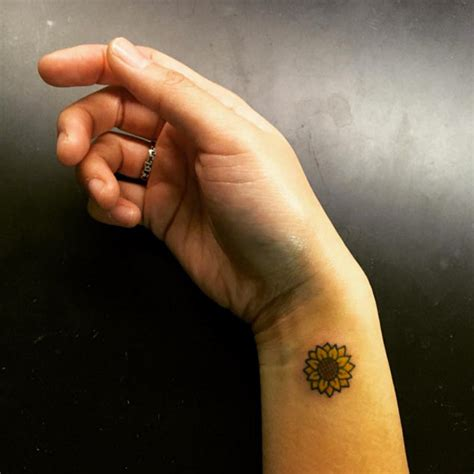 sunflower wrist tattoo 40 fantastic sunflower tattoos that will inspire you to